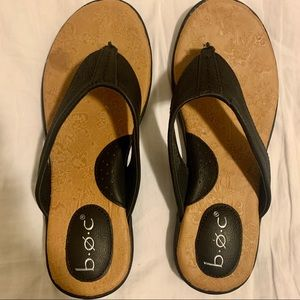 Woman's Black BOC Flip Flops